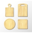 Set wooden cutting board vector image