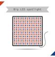 Icon big LED spotlight for plants vector image