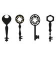 keys silhouette Antique Keys vector image