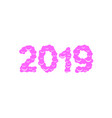 2019 sweet numbers vector image