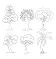 a doodle set trees vector image vector image