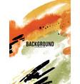 abstract orange liquid ink shape watercolor fluid vector image