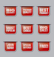 advertising discount banners vector image