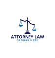 attorney law scale logo icon template vector image vector image
