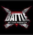 battle of the robots logo vector image vector image
