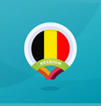 belgium flag map location pin european football vector image vector image