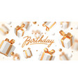 birthday greeting design with gift box vector image
