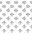 Black dotted fan shape pattern on white