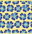 bright summer plaid floral seamless pattern vector image vector image