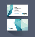 Business card template with triangles and polygons vector image