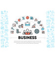 business management and finance elements template vector image vector image