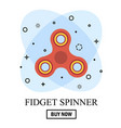 buy hand spinner toy in flat and cartoon style vector image vector image