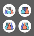 chemical lab test tube icon vector image vector image