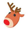 christmas deer icon isometric 3d style vector image