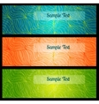 Colorfu banners with doodle drawings vector image