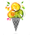 colorful background with ice cream vector image vector image