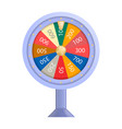 colorful lucky casino wheel mockup realistic vector image