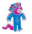 cool cartoon crazy monster simple weird creature vector image vector image