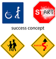creative design success concept vector image vector image
