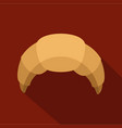 croissant icon flat style vector image