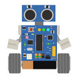 cute and funny homemade diy robot vector image