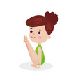 cute beautiful little girl performing gymnastic vector image