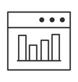 data analysis website diagram finance vector image