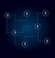 ethereum classic blockchain technology world vector image