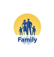 family logo design template people or society icon vector image vector image