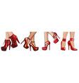 fashion high heels shoes art vector image vector image