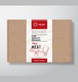 fine quality organic pork craft cardboard box vector image
