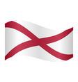 flag of alabama waving on white background vector image