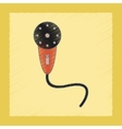 flat shading style icon Kids microphone vector image vector image