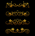 golden vintage borders vector image