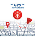 gps navigation set icons vector image