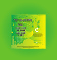 green eid ul adha best offer social media post vector image vector image