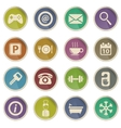 Hotel simply icons vector image vector image
