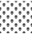 Human skull pattern simple style vector image