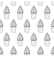 Ice Cream Easy Pattern Linear-05 vector image vector image