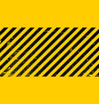 industrial background warning frame grunge yellow vector image vector image