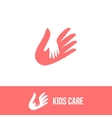 Isolated child and adult hands logo vector image vector image