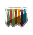 Isolated necktie design vector image vector image