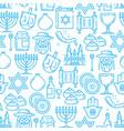 judaism religion seamless pattern jewish symbols vector image vector image