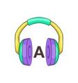 Language learning headphones icon cartoon style vector image vector image