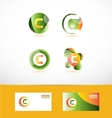Letter c logo icon set vector image vector image
