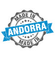 made in andorra round seal vector image vector image