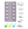 medical pills vector image vector image