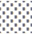 metal mug pattern seamless vector image vector image