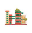 modern brick city building facade vector image