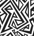 monochrome african seamless texture vector image vector image
